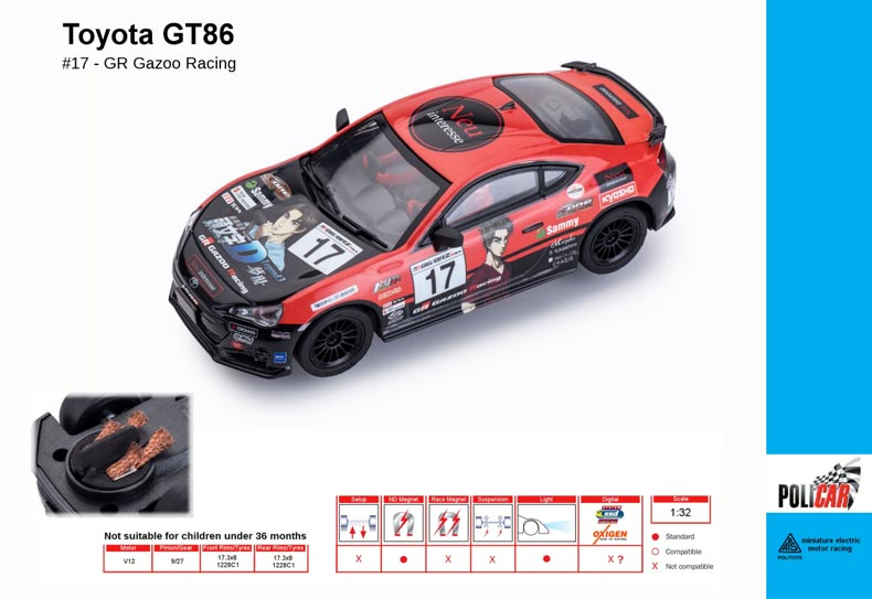 Toyota GT86 n ° 17 GR Gazoo Racing (PC-CT01a)