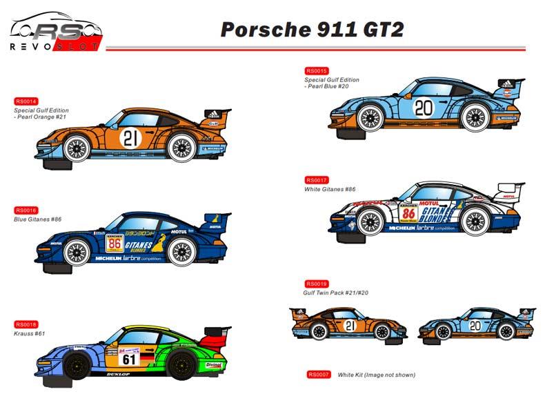 RevoSlot nouvelles Porsche 911 pour le slot