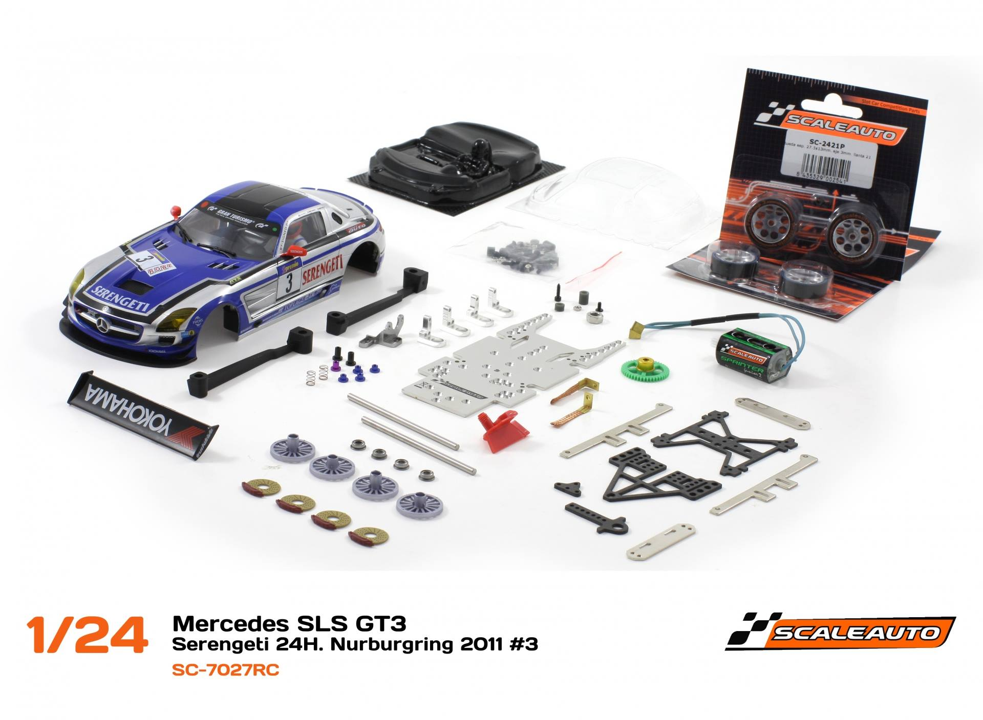 Mercedes SLS GT3 – Serengeti 24h Nurburgring 2011 #3 - SC-7027RC
