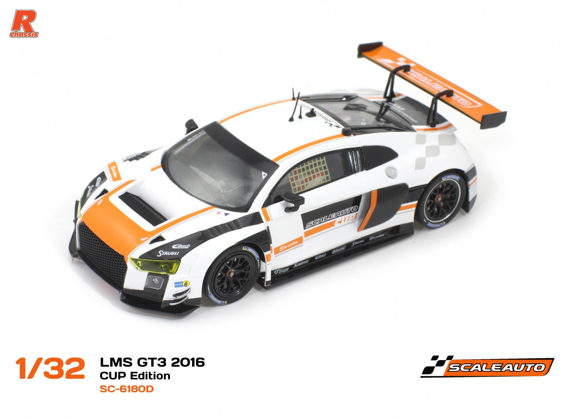 SC-6180 D LMS Gt3 Cup édition blanc / Orange R-version AW.