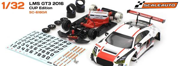 """Scaleauto: Quatre Audi LMS GT3 1/32 """"Cup Édition"""""""
