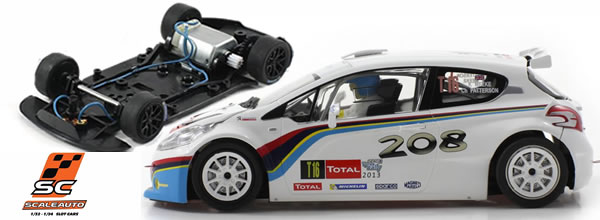 Scaleauto : la Peugeot 208 T16 Rallye Ypres 2013 version HomeSeries SC-6181