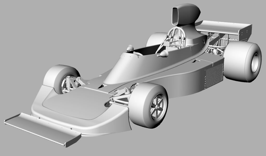 SRC: La Hesketh 308 B 1974 de James Hunt en projet