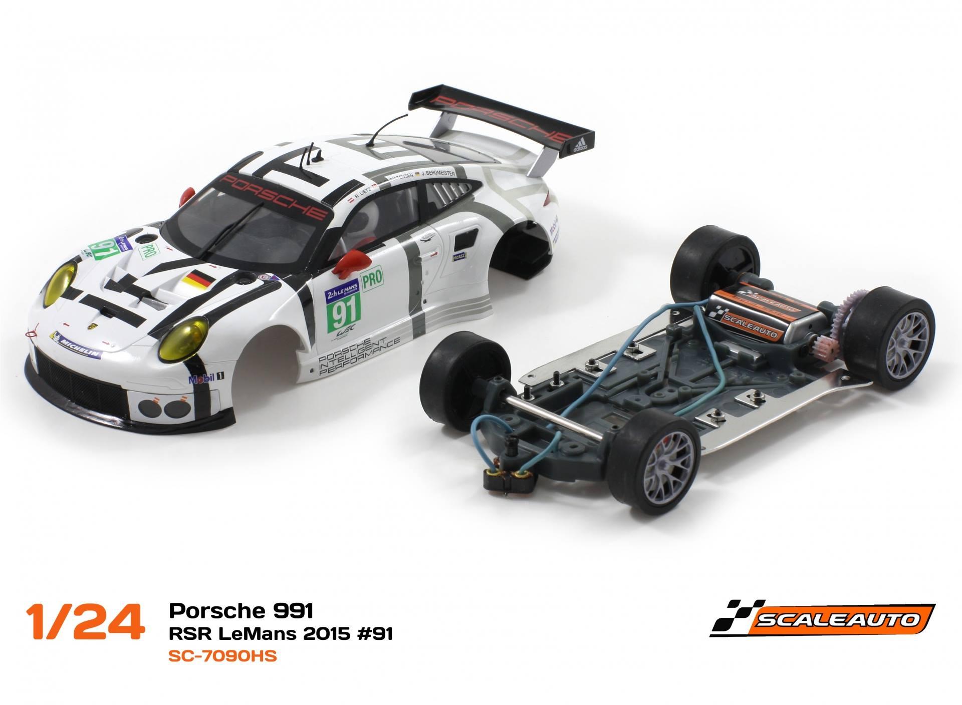 SC-7090HS Porsche 991 GT3 RSR 24h. LeMans 2015 # 91 avec le châssis HS124.
