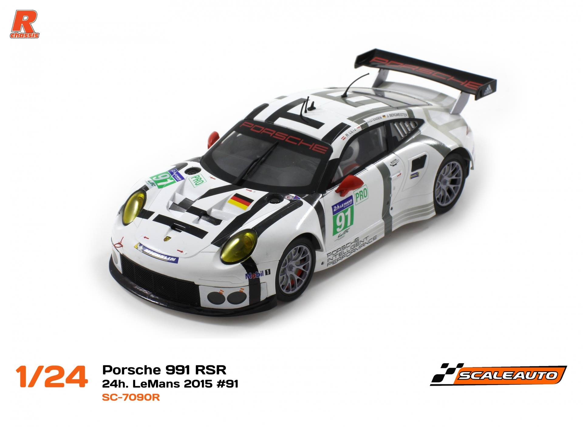 SC-7090B Carrosserie Porsche 991 GT3 RSR 24h. LeMans 2015 # 91