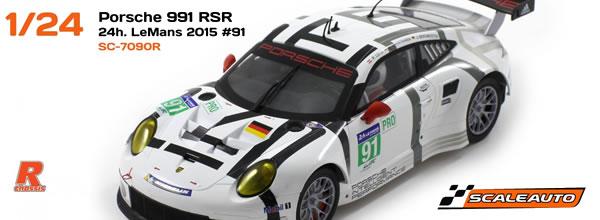 Scaleauto: Les Porsche 911 (991) #91 et #92 Le Mans 2015 1/24