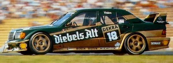 Slot.it: la Mercedes 190E - Winner Zolder DTM 1992 #18 en première livrée