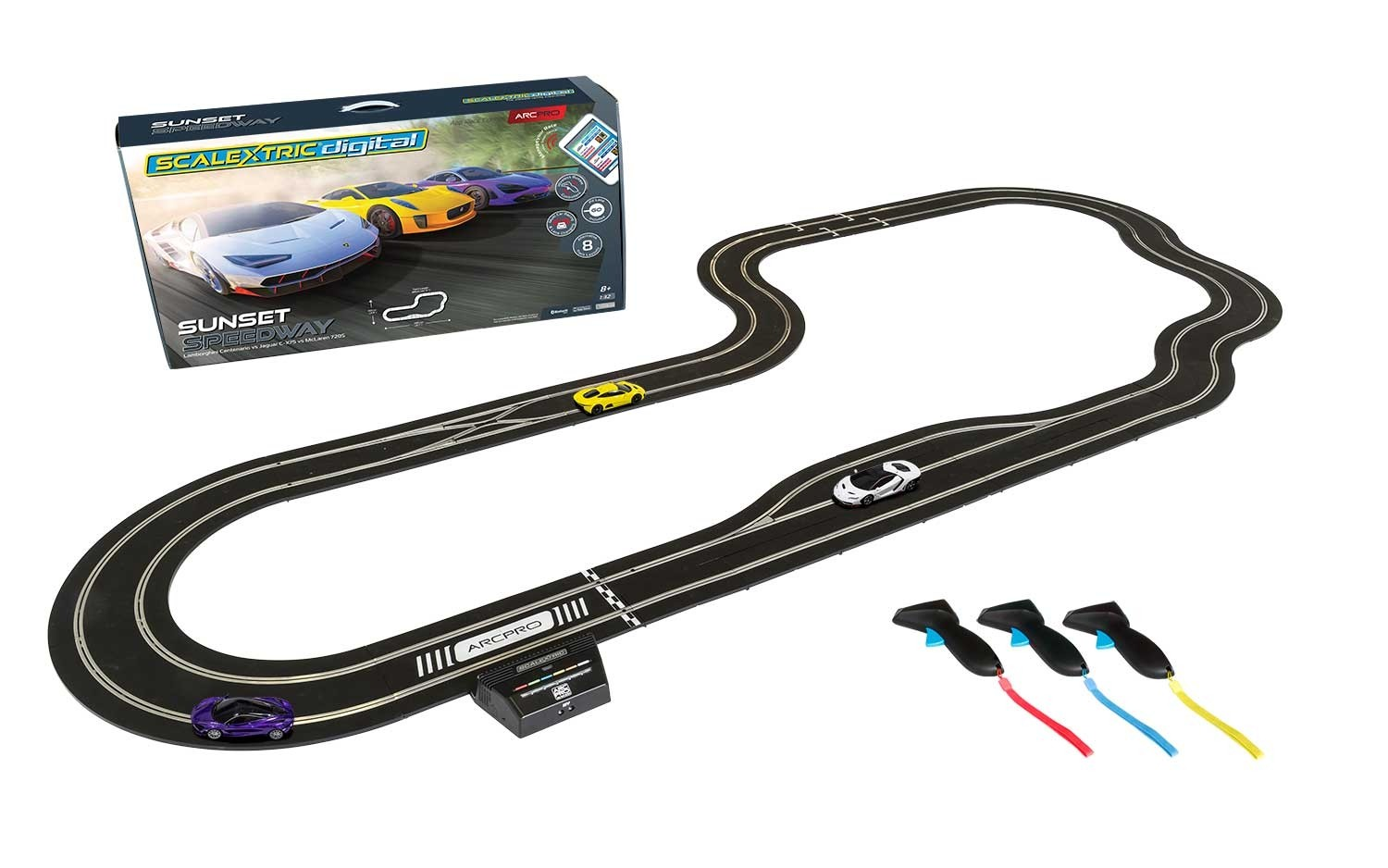 Scalextric: Le coffret ARC PRO SET SUNSET SPEEDWAY