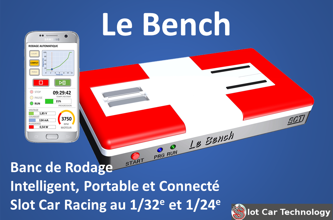 Slot Car Technology: le Bench, le banc d'essai intelligent est disponible