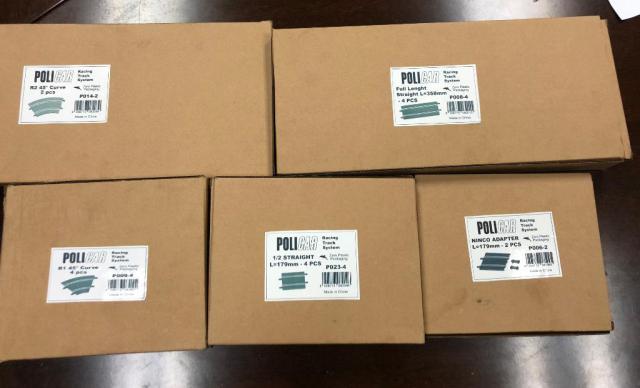 Les rails Policar seront livrées dans un emballage en carton recyclé