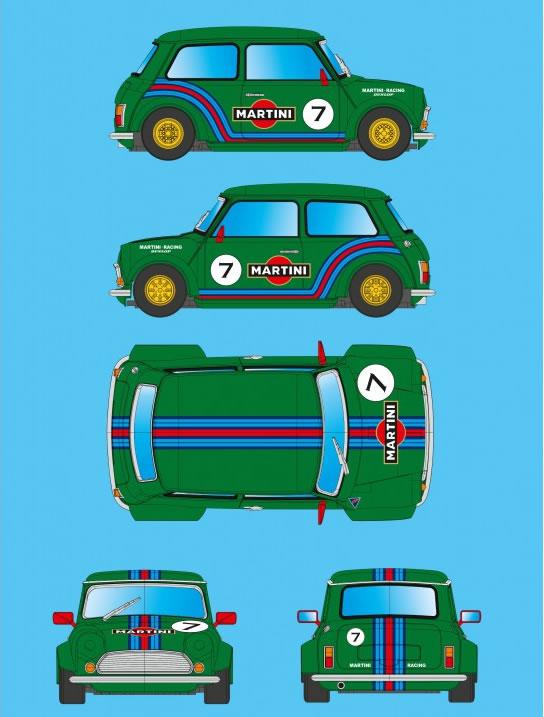 BRM MINI COOPER - MARTINI GREEN EDITION n.7