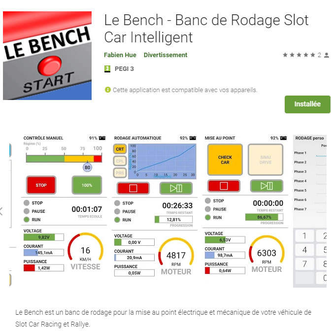 Le Bench - application