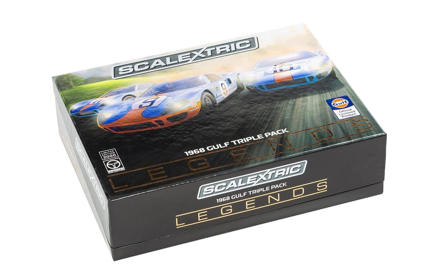Scalextric Le coffret Legends Ford GT40 LeMans 1968 - Gulf Triple Pack - Limited Edition