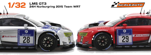 Scaleauto : Les deux Audi R8 LMS GT3 TEAM WRT 24h. Nürburgring 2015