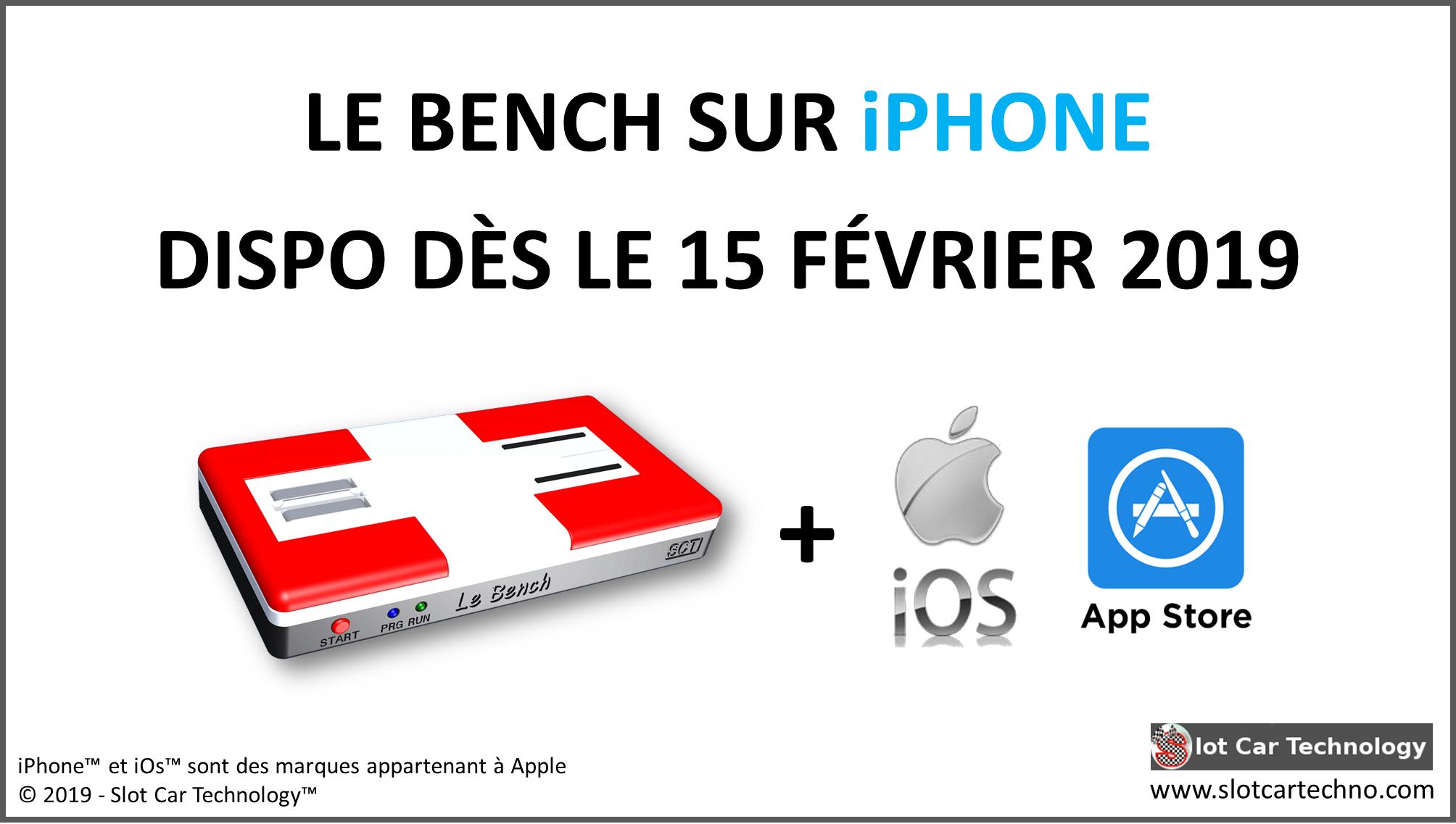 Slot Car Technology l'application iPhone du Bench arrive