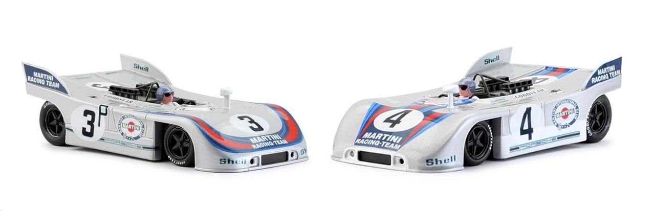 Coffret collector Porsche 908/3 Martini Winner Nurburgring 1971 #3 et #4 (500 exemplaires)