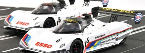 Le Mans miniatures: les deux Peugeot 905 des 24h du Mans en 1991