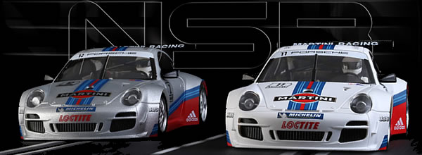 NSR Slot: Deux Porsche 997 Martini Racing 1/32