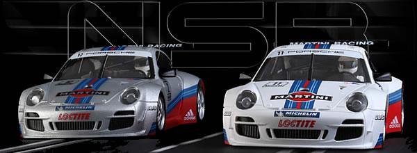 NSR Slot: Deux Porsche 997 Martini Racing 1/32