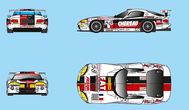 RS034- DODGE VIPER GTS-R #58 Chereau – Fat 24 heures du Mans 2001