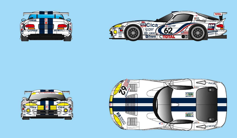 RS035- DODGE VIPER GTS-R #58 Cica - 24 H Le Mans 1997