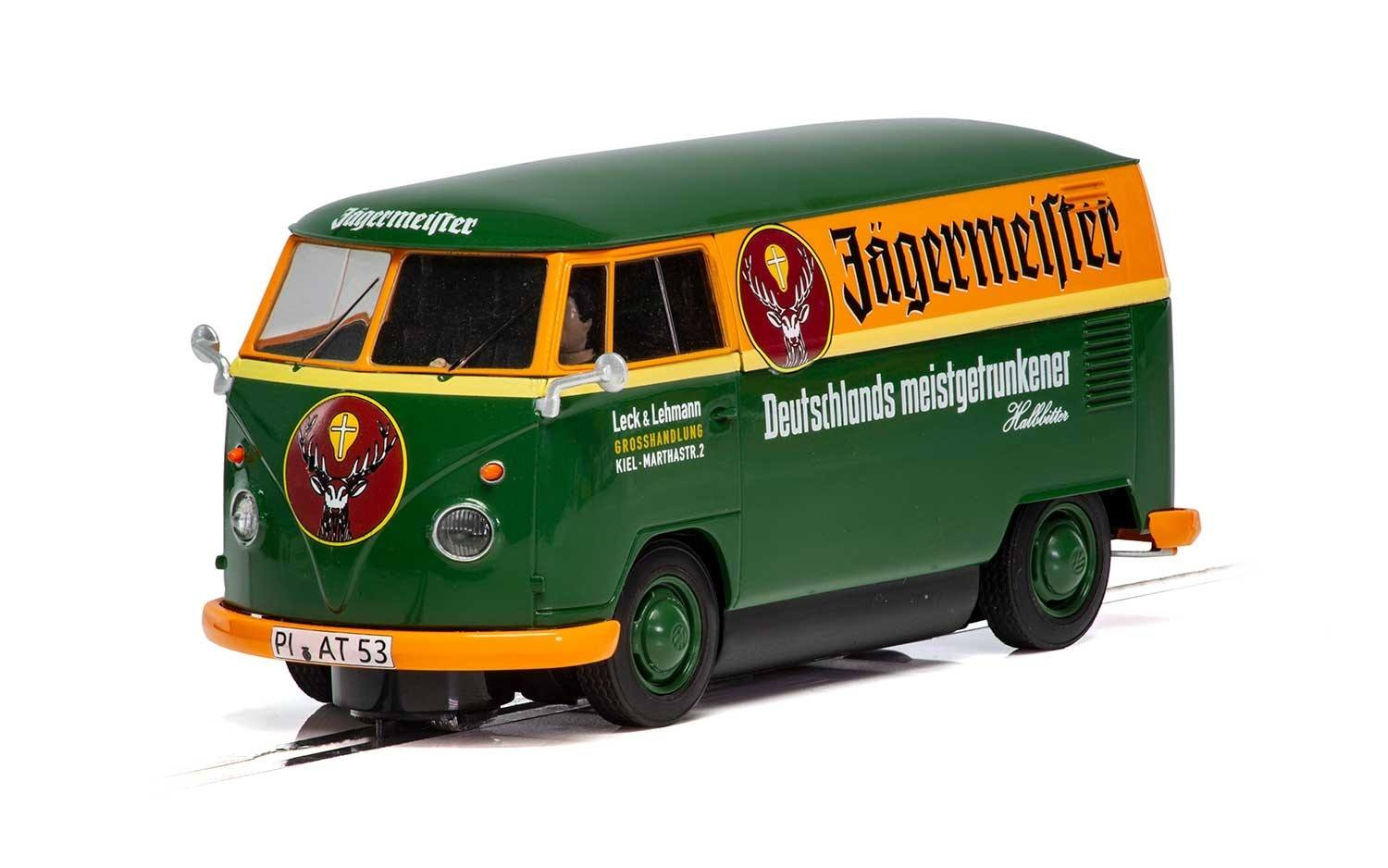 SCALEXTRIC C3938 - VW Panel Van T1B - Jagermeister Green/Orange