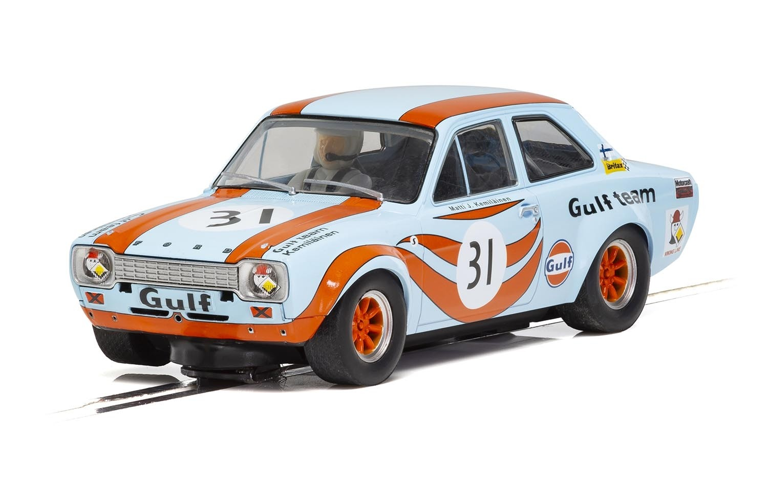 SCALEXTRIC C4013 - Ford Escort MK1 - 1972 Brands Hatch Gulf #31