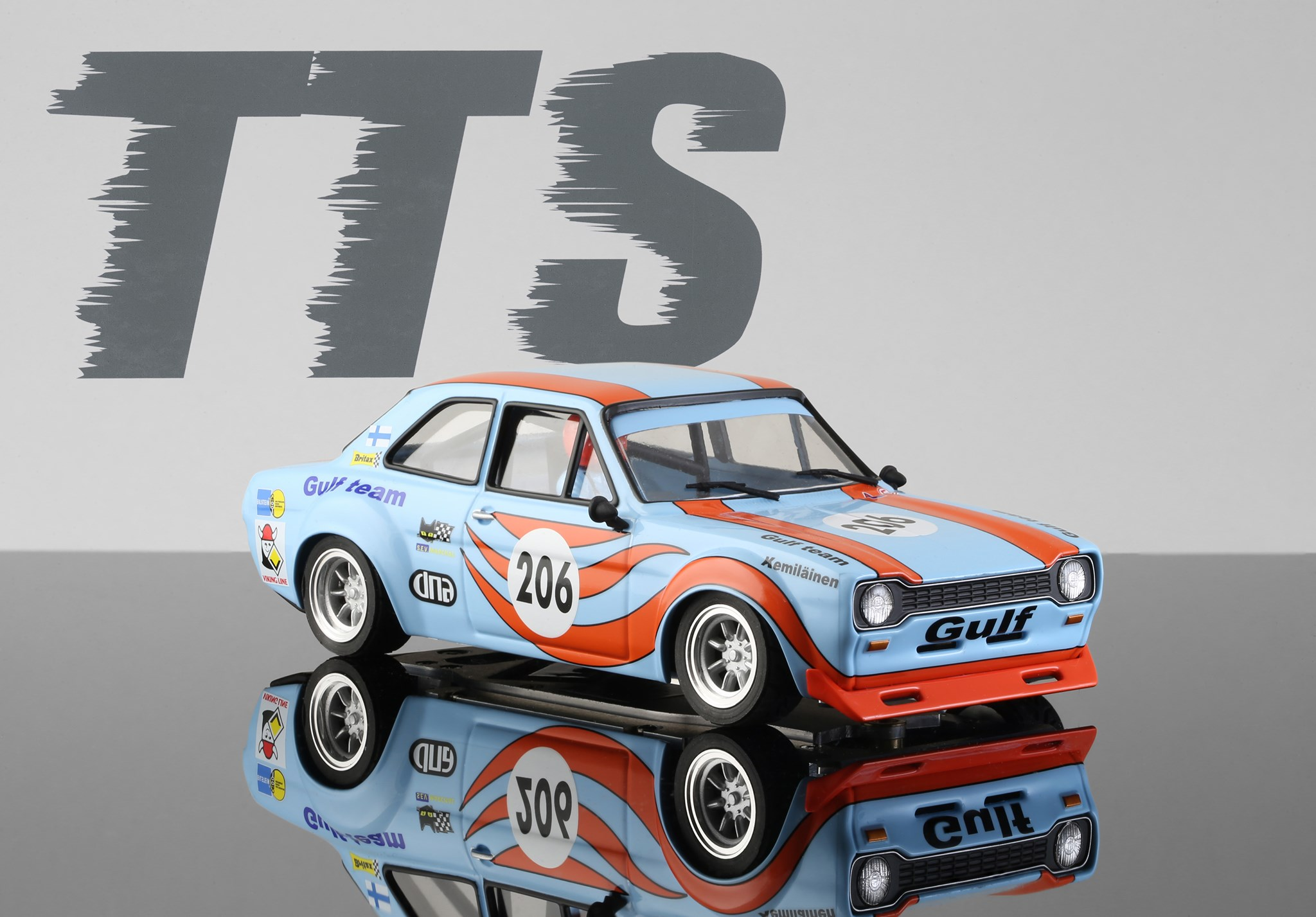 TTS 1/24 - Ford Escort MK1 - Gulf Team #206 -TTS017