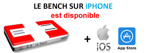 Le Bench: l'application Iphone disponible sur App'Store