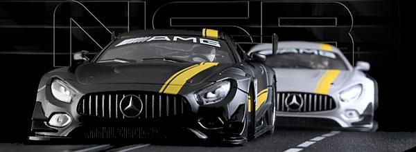 NSR Slot: Deux Mercedes AMG GT3 – version test car –