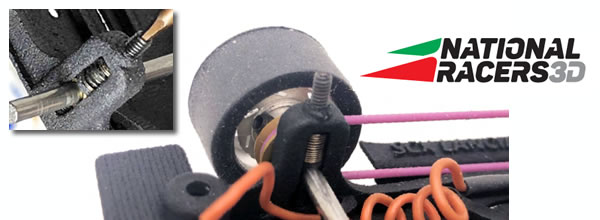 National Racers 3D: Des suspensions sur le train avant des chassis en impression 3D