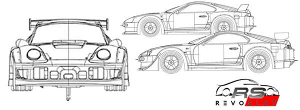 Revoslot: Deux versions pour les kits blancs des Porsche GT2 et Toyota Supra