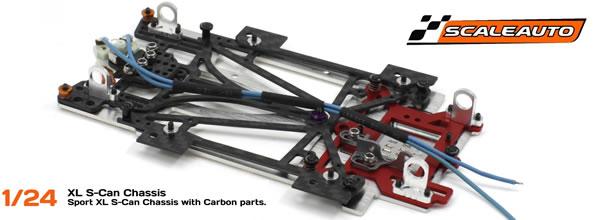 Scaleauto: Chassis Sport pour slot car à l'echelle 1/24