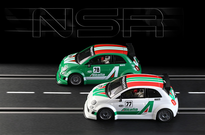 NSR Slot: Deux 500 Abarth Alitalia au mois de juin