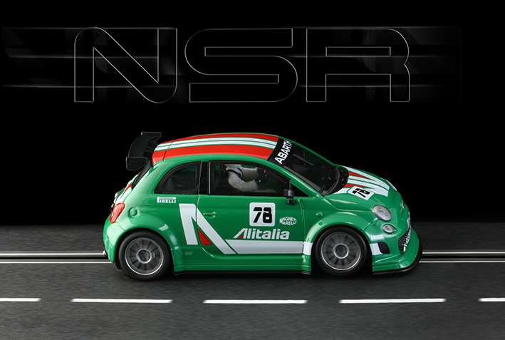0102SW - 500 ABARTH ALITALIA GREEN #78 SHARK 21.5 EVO.