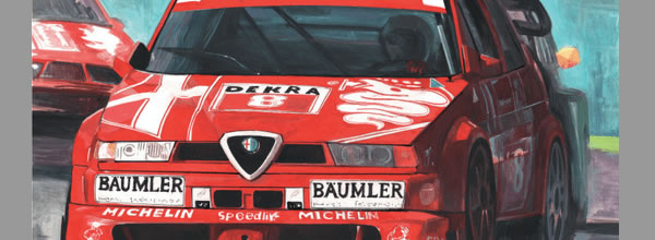 Slot.it Un coffret Alfa Romeo DTM illustré par Claudio Biacchi