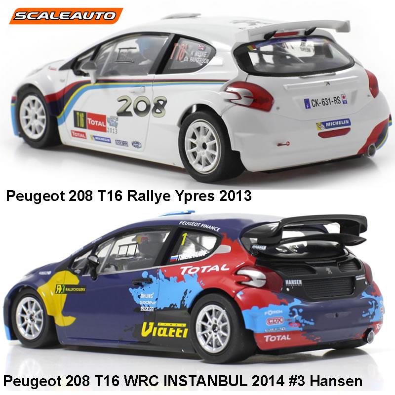 Différences entre 208  T16 et 208 T16 WRC - Scaleauto