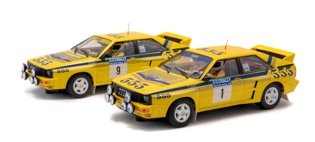 Fly Slot: le deux Audi Quattro A2 du rallye de Hong Kong-Beijing 1985