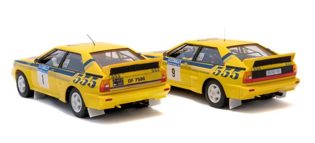 Fly Slot les deux Audi Quattro A2 du rallye de Hong Kong-Beijing 1985