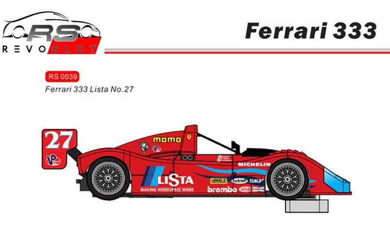 RevoSlot Ferrari 333 No.27 Lista - Ref : RS039