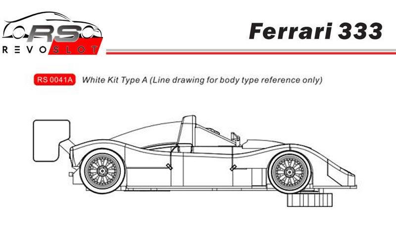 Revoslot Ferrari 333 SP kit Blanc