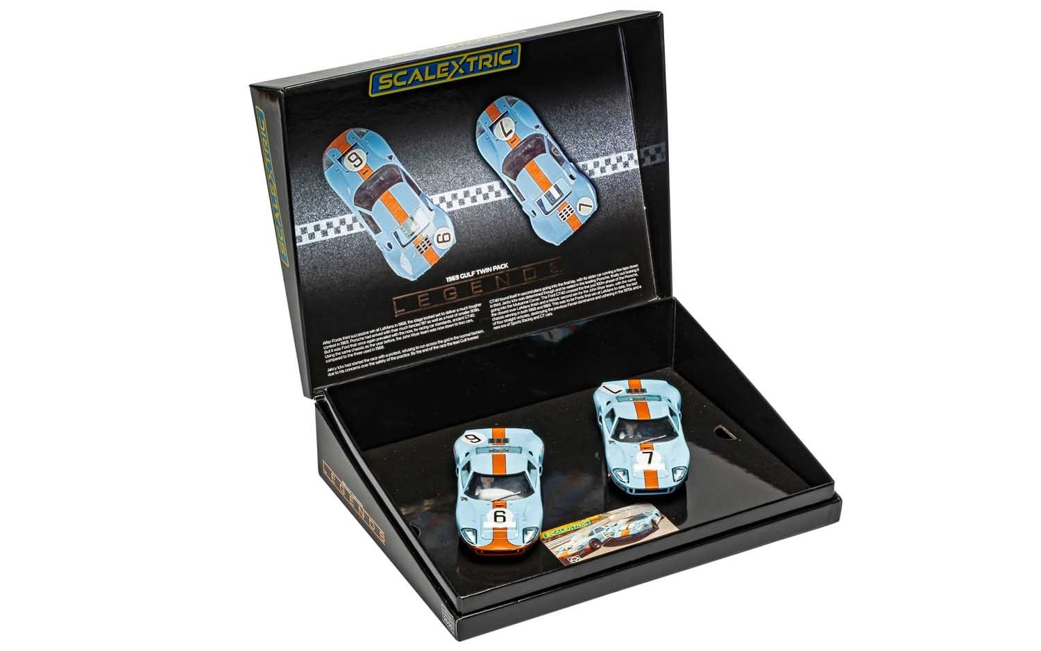 Scalextric le coffret FORD GT40 1969 GULF TWIN PACK - C4041A