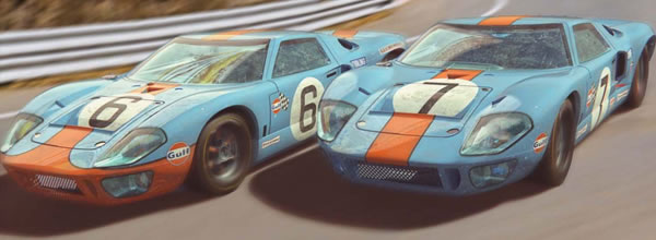 Scalextric: le coffret FORD GT40 1969 GULF TWIN PACK - C4041A