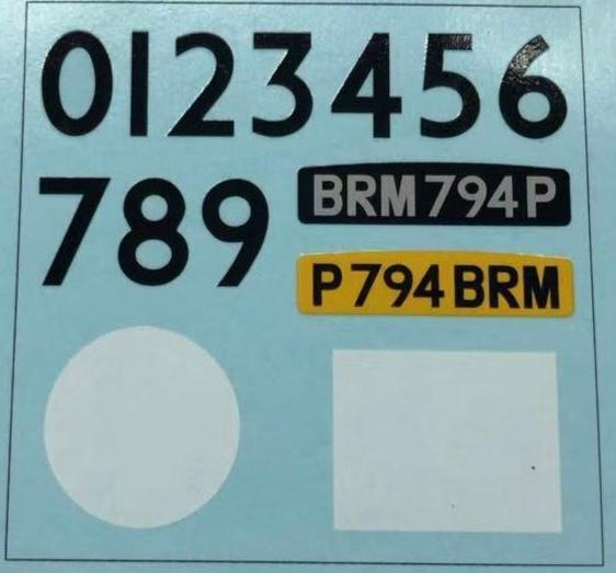 BRM - Planche décalque Mini Classic