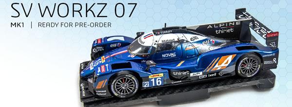 SV Workz la réplique pour le slot racing de l'Oreca 07 LMP2