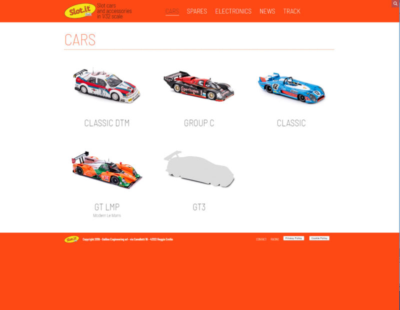 la rubrique slot cars du site Slot.it