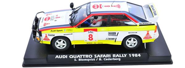 Fly Slot l'Audi Quattro Safari Rallye 1984