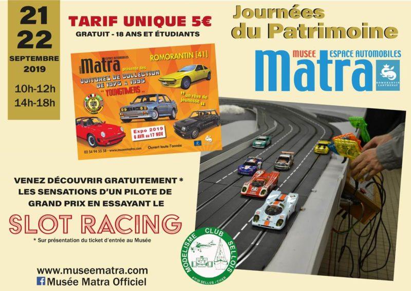 Journées du patrimoine Du slot racing au musée Matra