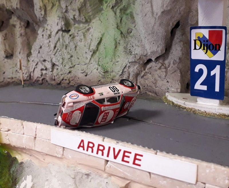 Slot Montagne la 5è manche lors de la final de la coupe montagne de course de côte échelle 1