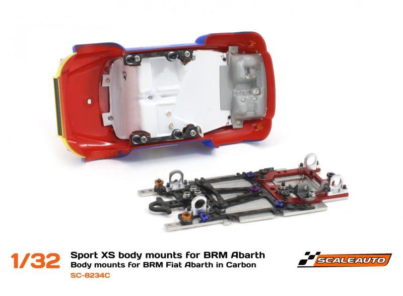 SC-8234 Support de carrosserie châssis Sport XS pour Fiat Abarth 1000 BRM.